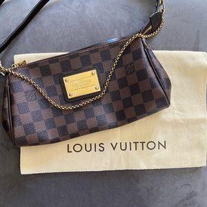 Louis Vuitton Eva Damier Ebene Canvas Cross Body